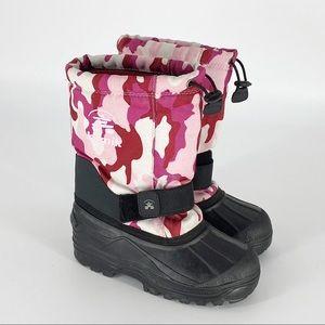 KAMIK Winter Snow Boots Pink Camo Girls 1